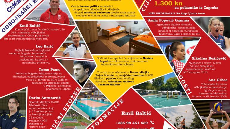 Odbojkaški kamp CroVolley 2021 ovo ljeto u Zagrebu
